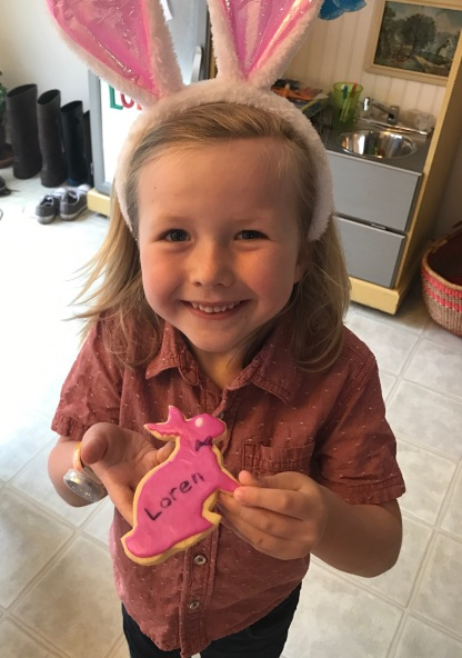 Loren helped make Easter cookies!