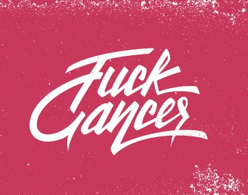 hand-lettering-fuck-cancer